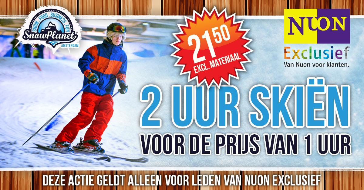 2 uur skiën voor de prijs van 1 uur bij Snowplanet
